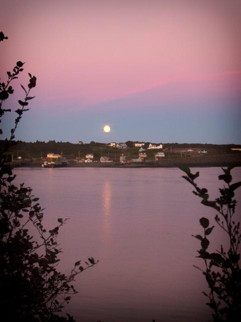 Nova Scotia harvest moon rising