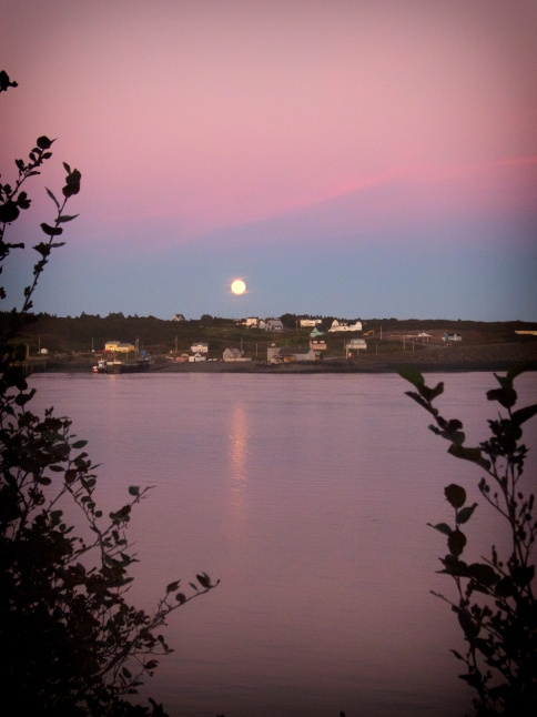 Nova Scotia harvest moon rising